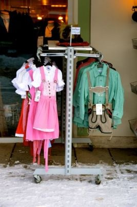 Dirndls and lederhosen for sale in Germany