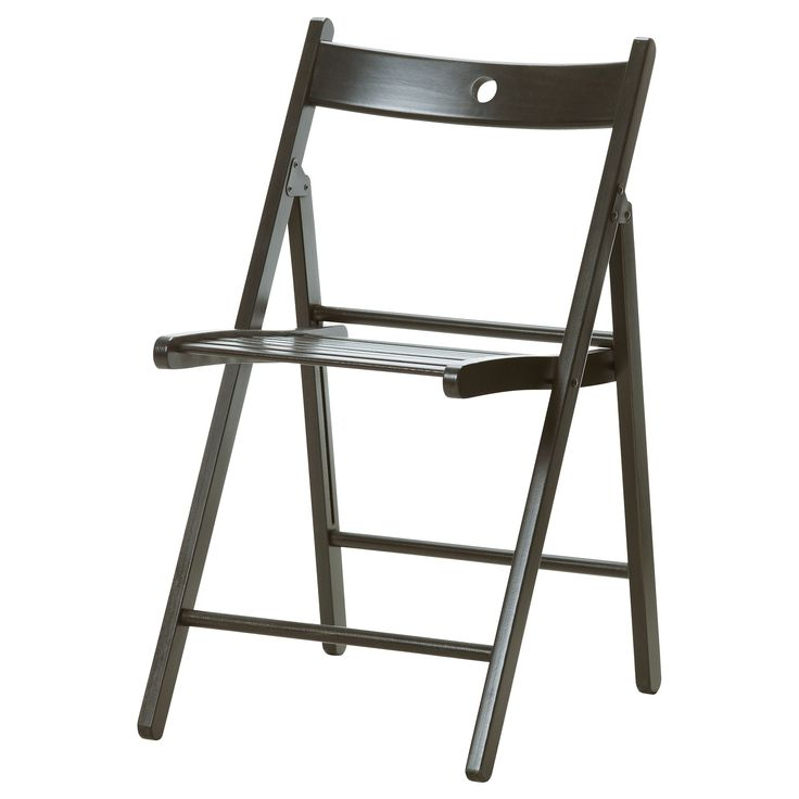 terje folding chair black garage