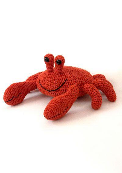 Vinnis Colours: P 29: Eugene the Crab - free crochet pattern.