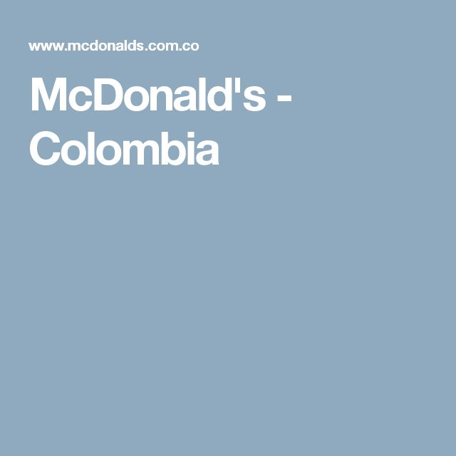 McDonald's - Colombia