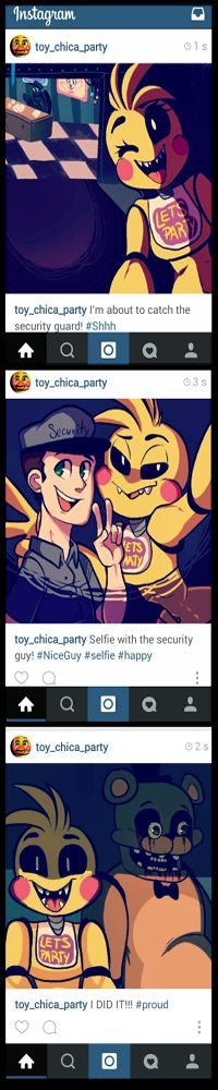 Look at the last one!!!!!! oy Chica's Instagram by MarlArtsCE on DeviantArt