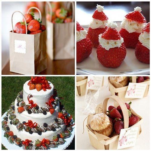 italian wedding cakes decorations with fruits | Things Festive Wedding Blog: Strawberry Wedding Decorations - Favors ...