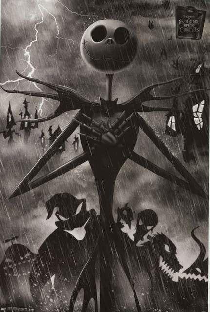 Nightmare Before Christmas Jack Skellington Poster 22x34 – BananaRoad