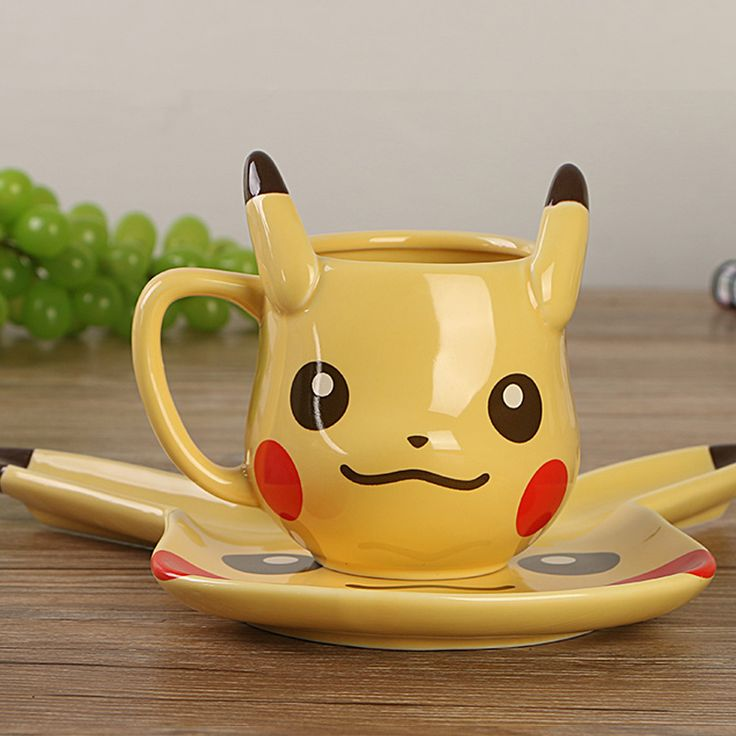 Anime Game Pokemon Pocket Monsters Pikachu Coffee Mug Creative Cute Ceramic Coffee Cup for Friend Gift #clothing,#shoes,#jewelry,#women,#men,#hats,#watches,#belts,#fashion,#style