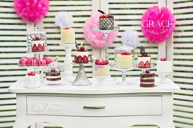 Mini cakes for weddings www.gracecc.ro