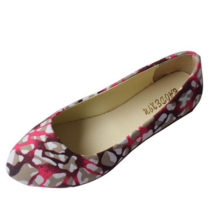 Senhoras Sapatos de Ballet Flats Mulheres Sapatos Baixos Mulher Bailarinas Impressão Tamanho Grande 42 Mulheres Mocassins Zapatos Mujer Sapato WSH2223 em Apartamentos das mulheres de Sapatos no AliExpress.com | Alibaba Group