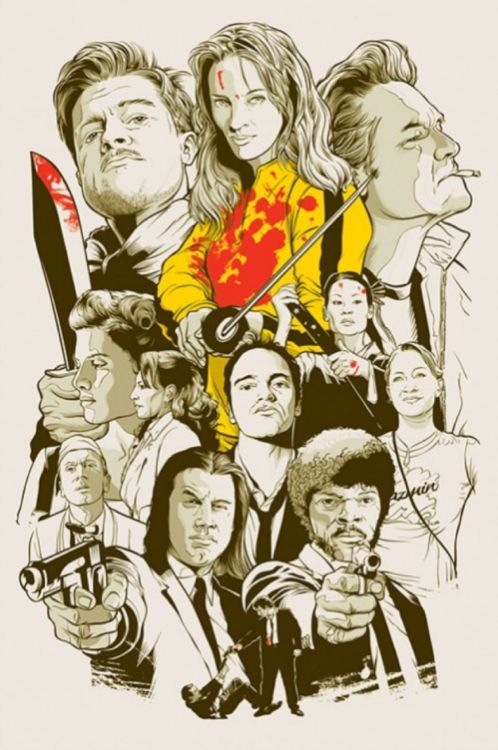 Illustration/Painting/Drawing inspiration  ( Quentin Tarantino's cult creations )