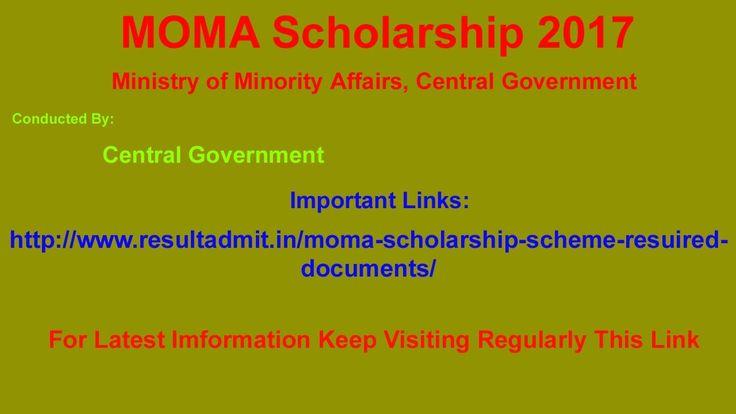 MOMA Scholarship 2017 Apply Online|www.ResultAdmit.in|