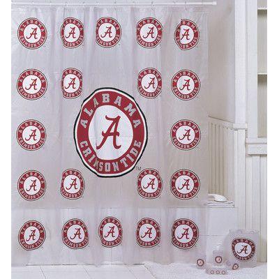 Nice Alabama Shower Curtains | Championship Home Accessories Alabama Crimson  Tide 7 Piece Bath Set