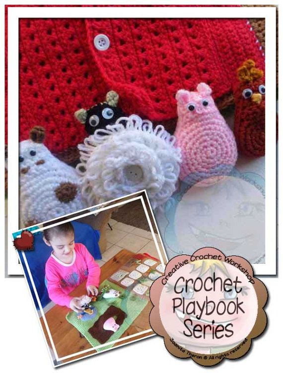 My Interactive Farmyard Playbook Crochet Quiet Book - PDF Instant Digital Download Crochet Pattern