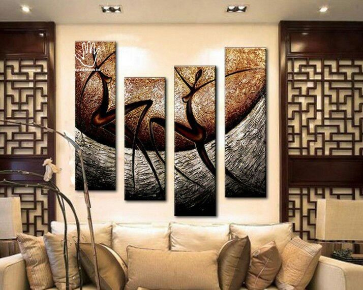 4 Piece Textured Abstract  Painting.  Strong African hand painting made on canvas. Suitable for living rooms, dining areas, corridors or offices. suitable for red colored walls, cream, white or yellow. Get yours at www.nuerasamp.com.