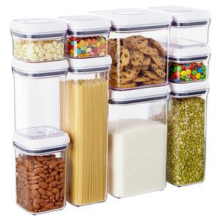 Good Grips® 10-Piece POP Canister Set - with container sizes for just about everything that needs organizing in my cabinets!