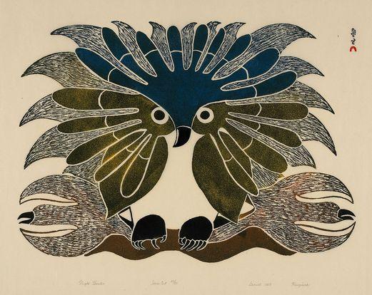 Chasseur nocturne, by Kenojuak Ashevak, 1969