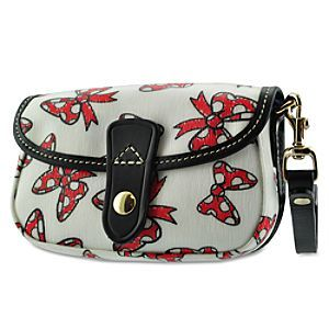 Disney Minnie Mouse Bow Wristlet Bag by Dooney & Bourke - White | Disney StoreMinnie Mouse Bow Wristlet Bag by Dooney & Bourke - White - Our Dooney & Bourke Wristlet Bag features a whimsical print of Minnie's trademark polka dot bow. With designer styling and a detachable strap, this fine fashion handbag ties a little bow of Disney fun onto your day!See more