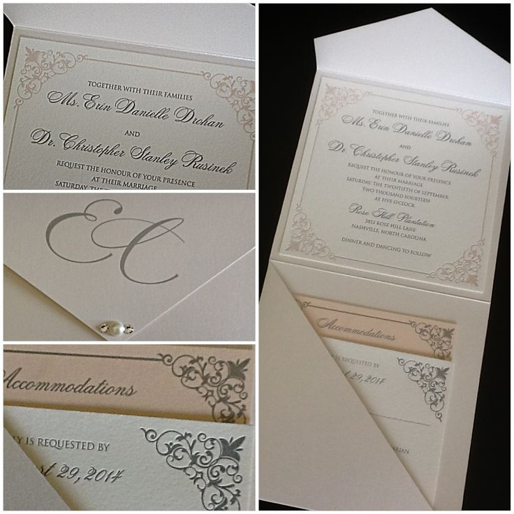 letterpress wedding invites london%0A Letterpress pocket with a touch of bling  PocketsWedding InvitationsBling