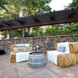 Nice Haybale Furniture
