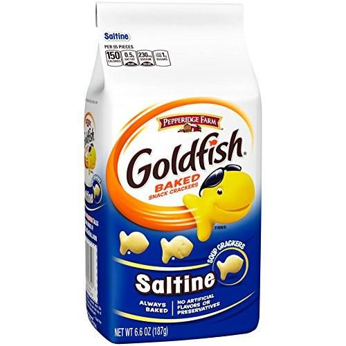 Pepperidge Farm Goldfish Crackers Saltine 6.6 Ounce (Pack of 24) 6.6 Ounce (Pack of 24)