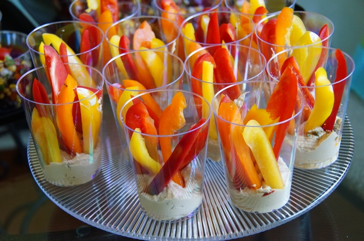 Flaming peppers with hummus!