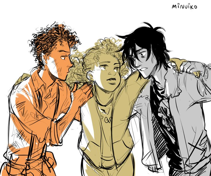 Her knees buckled. Nico and Leo grabbed her arms and helped her to the steps of the foredock. - The House of Hades (Nico and Leo may not have v much interaction in HoH but their mutual concern for Hazel is my favorite uwu)