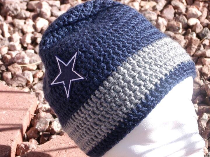 Dallas Cowboys Crochet Baby Hat Pattern : Cowboy beanie crochet ideas Pinterest Beanie and Cowboys