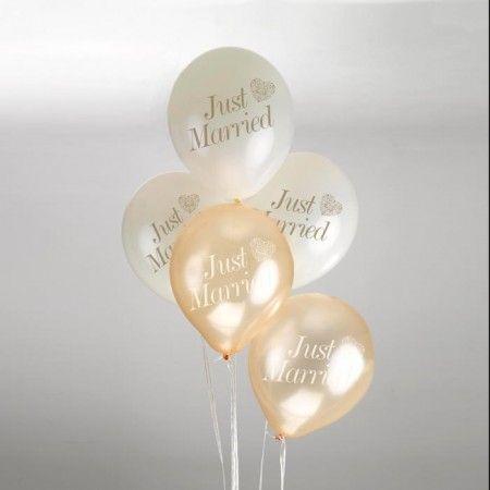 Vintage Romance ballonnen (8st) Ivoor-Goud