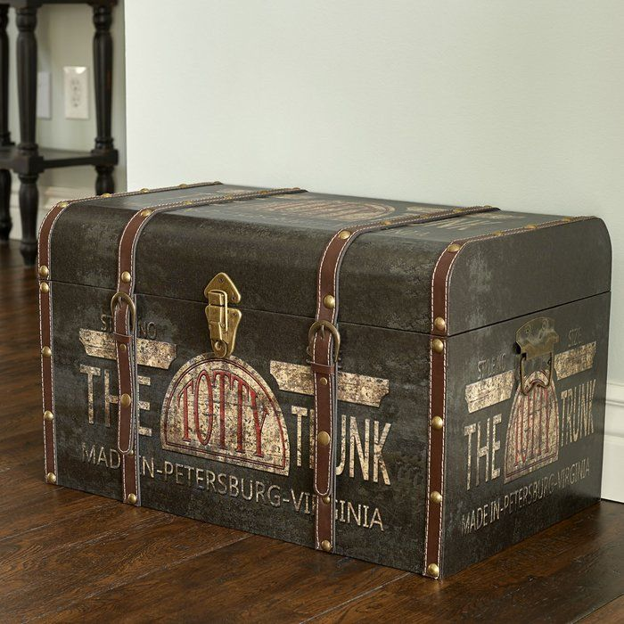 Helina Large Vintage Decorative Home Storage Trunk In 2020 Storage Trunk Trunks Accessories Storage