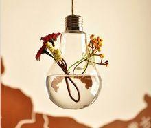 Módne Hot Light tvare žiarovky sklo visieť terária vázy vzduchu rastlín sukulentná terárium pre domáce dekoráciu (Čína (pevninská časť))