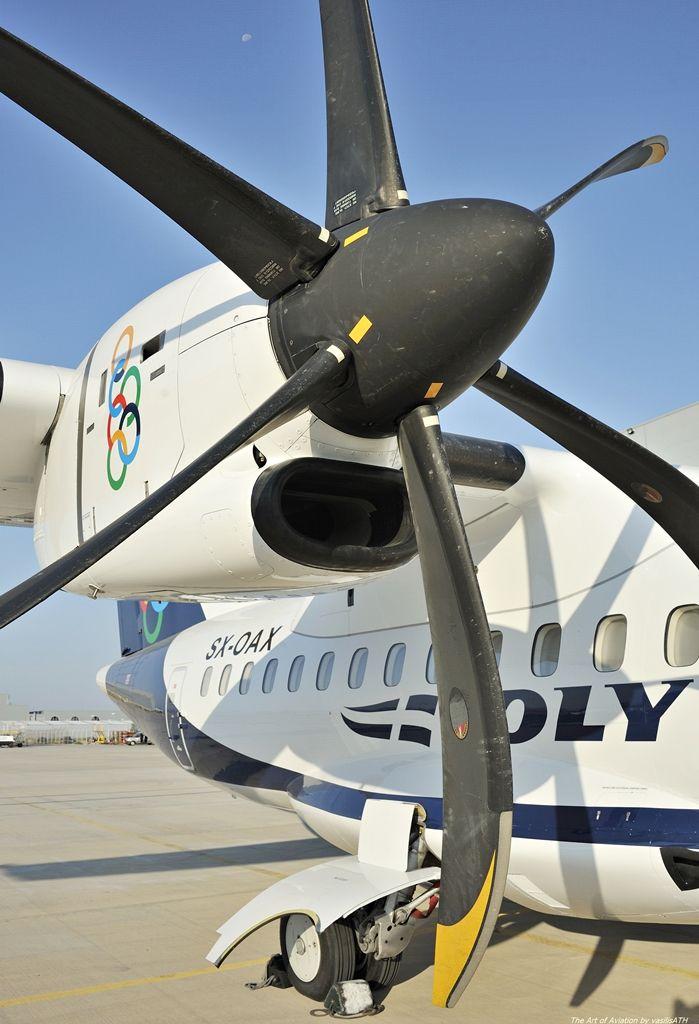 """Olympic Air ATR 42-600 - cn 1016 SX-OAX First Flight 20. Nov 2014 Age 1.8 Years Test registration F-WWLZ Production Site Toulouse (TLS) Engines 2x PWC PW127M ΟΨΕΙΣ - ΜΑΤΙΕΣ Κτήριο 57 Τεχνική Βάση Olympic Air.Athens International Airport """"Eleftherios Venizelos"""" ATH/LGAV"""