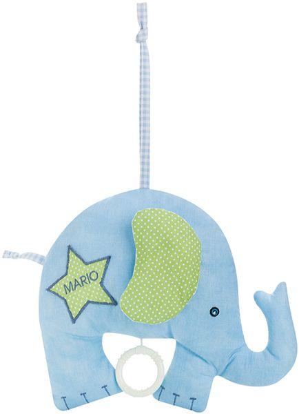 kostenlose Anleitung und Schnittmuster für eine Elefanten - Spieluhr