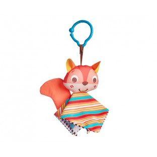 Tiny Smarts Crinkly Squirrel - Ophæng - Ophæng til barnevogn og autostol - Legetøj