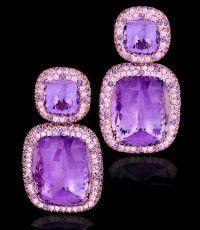 Margot McKinney Amethyst and Pink Sapphire Earrings