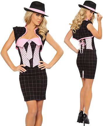 old school gangster costumes female - Halloween Mobster Costumes