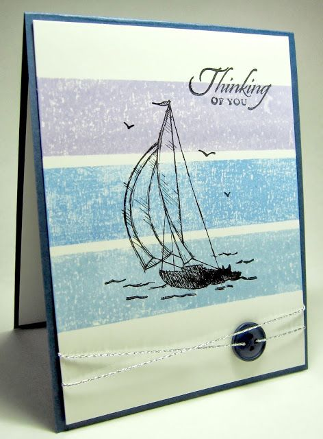 stamping up north: Stampin Up masking tape cards. Other really good examples on site.