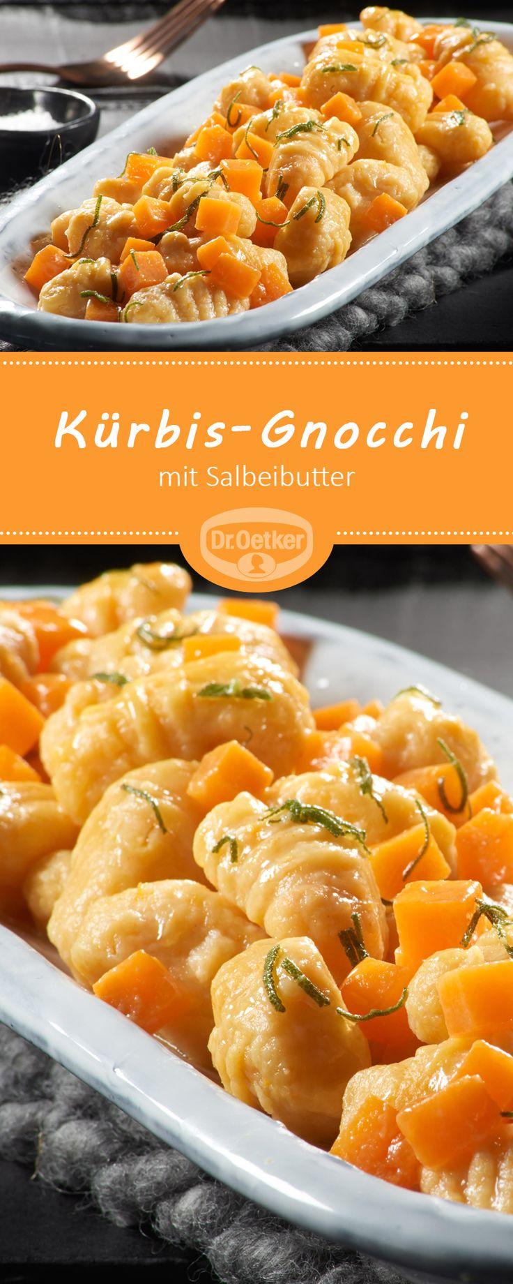 Kürbis-Gnocchi mit Salbeibutter: Leckeres Kürbis-Rezept mit Kartoffeln