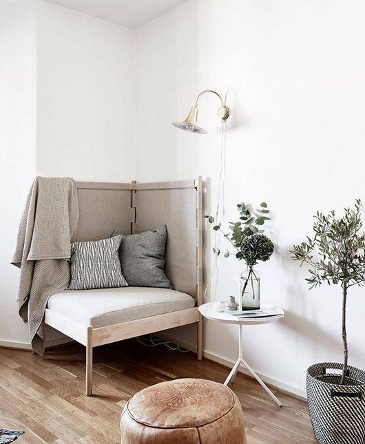 modern gray corner chair / sfgirlbybay