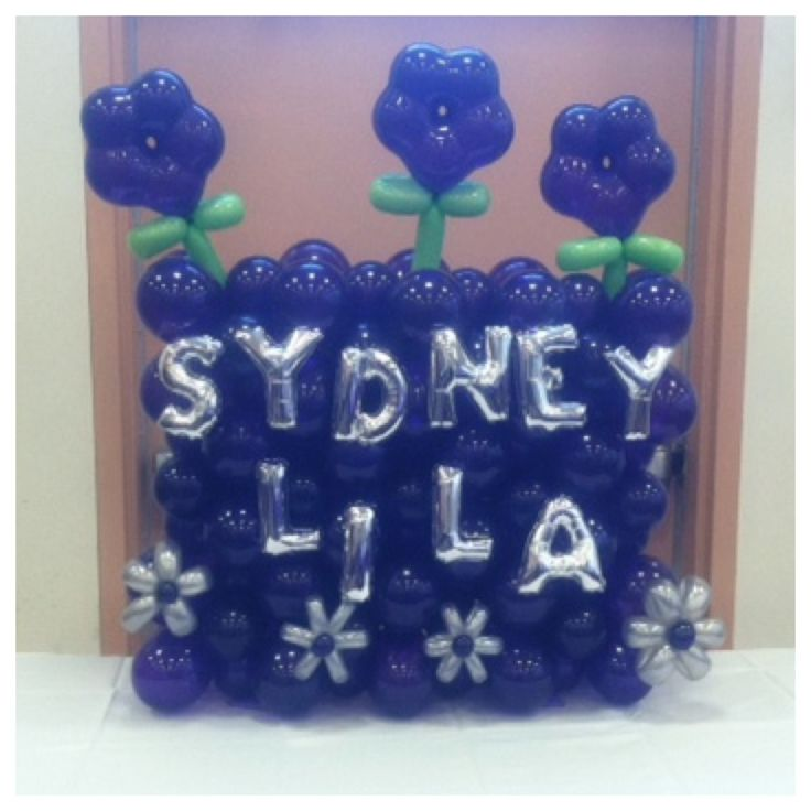 Baby Naming Balloon Centerpiece By Elegant Balloons Baby