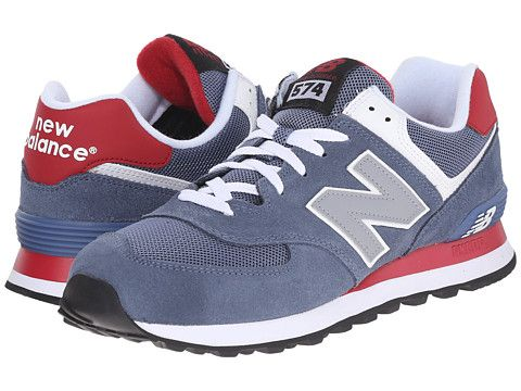 Buy Cheap Mens Casual Shoes - New Balance Classics ML574 Red/Grey