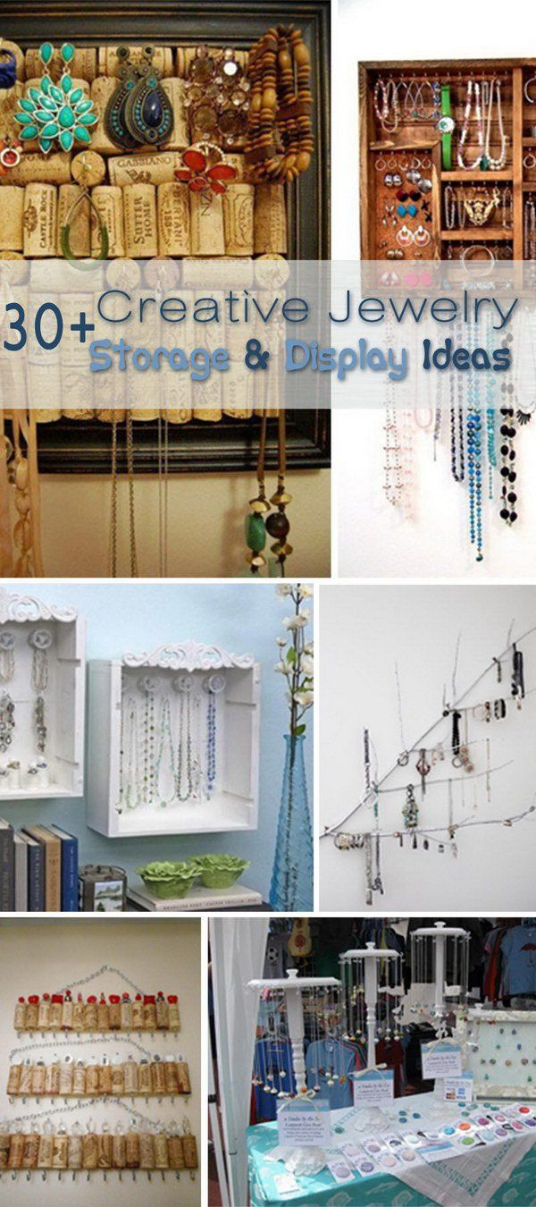 Creative Jewelry Storage & Display Ideas!  http://hative.com/creative-jewelry-storage-display-ideas/