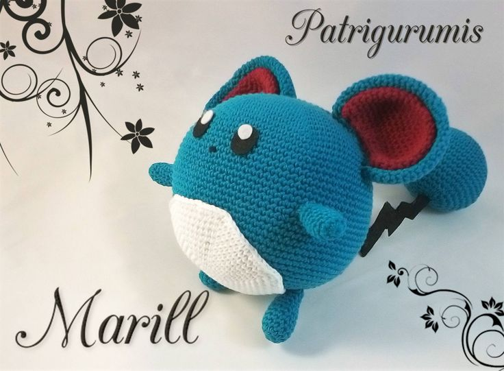 DIY Marill amigurumi en ganchillo - Crochet