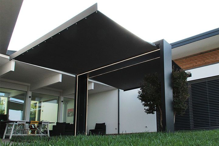 Tende Da Sole Per Esterni Moderne.Arco Autoportante Con Tende Da Sole Gate Shade By Unosider