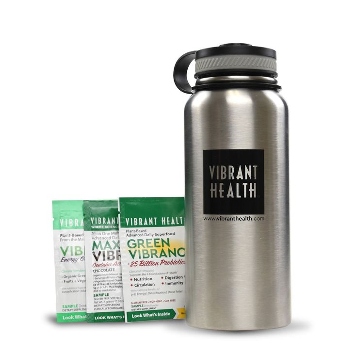 Stainless Steel Water Bottle + Free Samples!