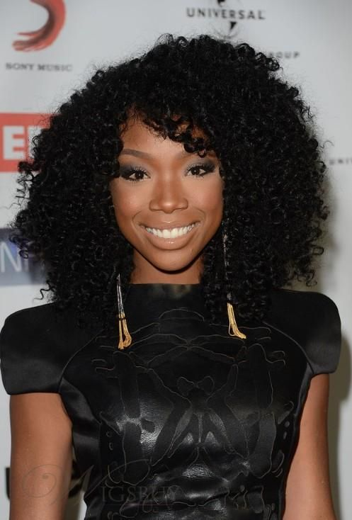 Black Curly Hairstyles while men can wear a shoulder length black curly haircut to let the curls frame New Arrival Top Quality Elegant Afro Hairstyle Long Curly Black Hair Lace Wig 100 Human