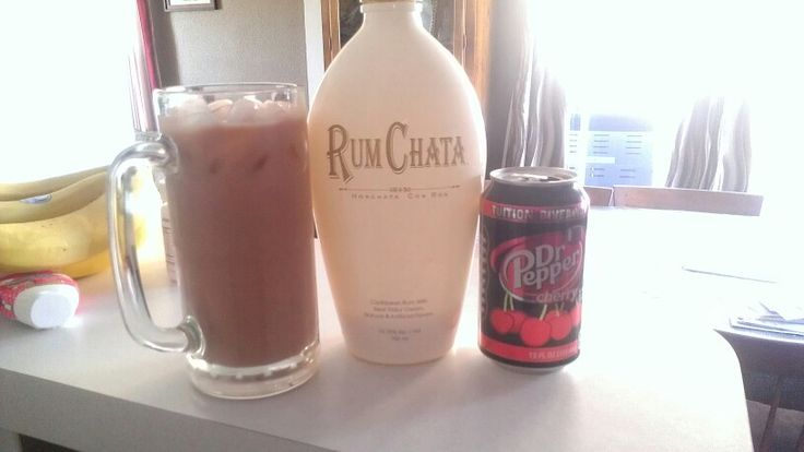 My new favorite drink! Cherry Doctor Pepper and Rum Chata....yummy!