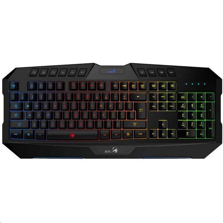 Genius Scorpion K20 USB billentyűzet Black, Gaming-élmény biztosít, fényerőszabályzással! 4 fajta háttér világítási mód 7 színben.