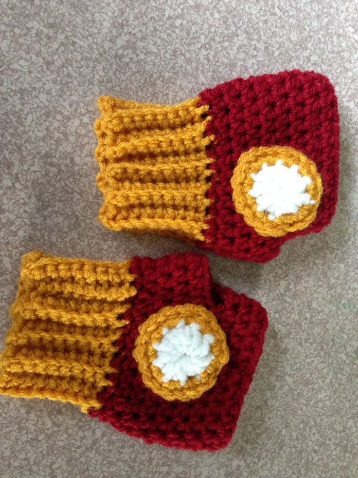 Iron Man Children's Fingerless Gloves by LakeEffectCreations on Etsy