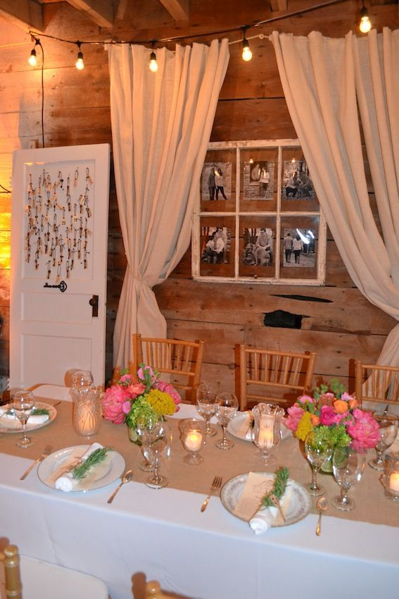 Rustic, Elegant Rehearsal Dinner in an Old Barn: A Key to Your Seat