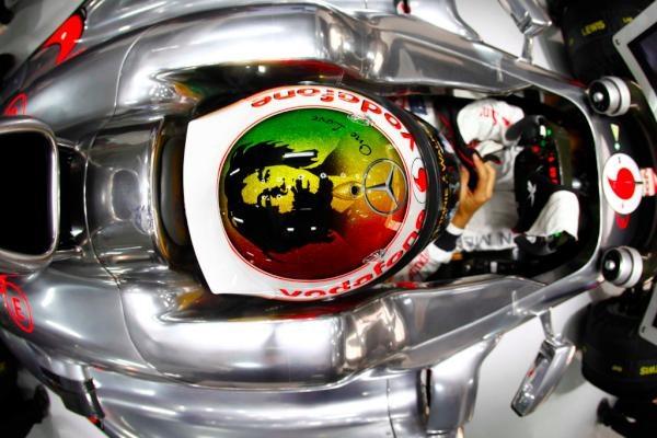 Bob Marley F1 Helmet..Lewis Hamilton