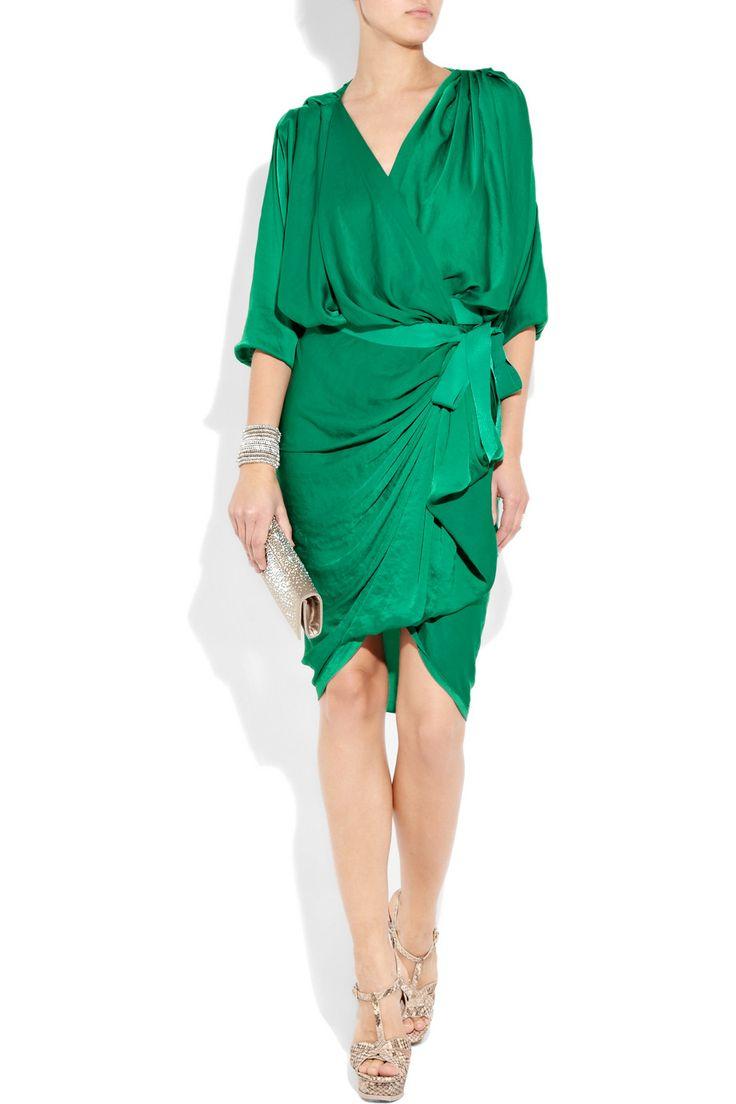 gorgeous dress, gorgeous green...