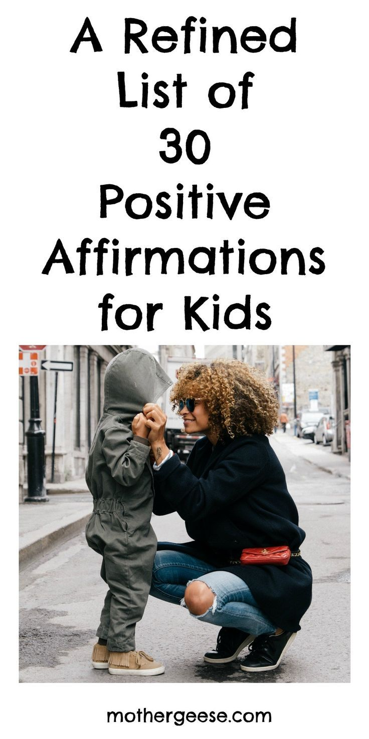 A specific, refined list of positive affirmations for kids