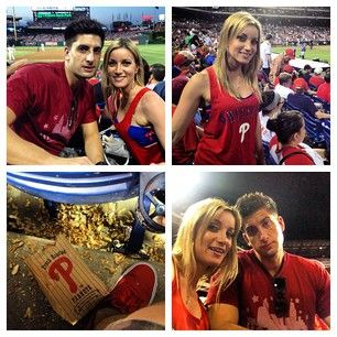 Jesse and Jeana out at the ball game! #phillies